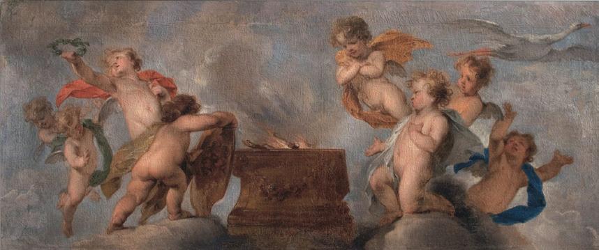 Succes: Jacob de Wits plafondschildering teruggevonden in Russische collecties!